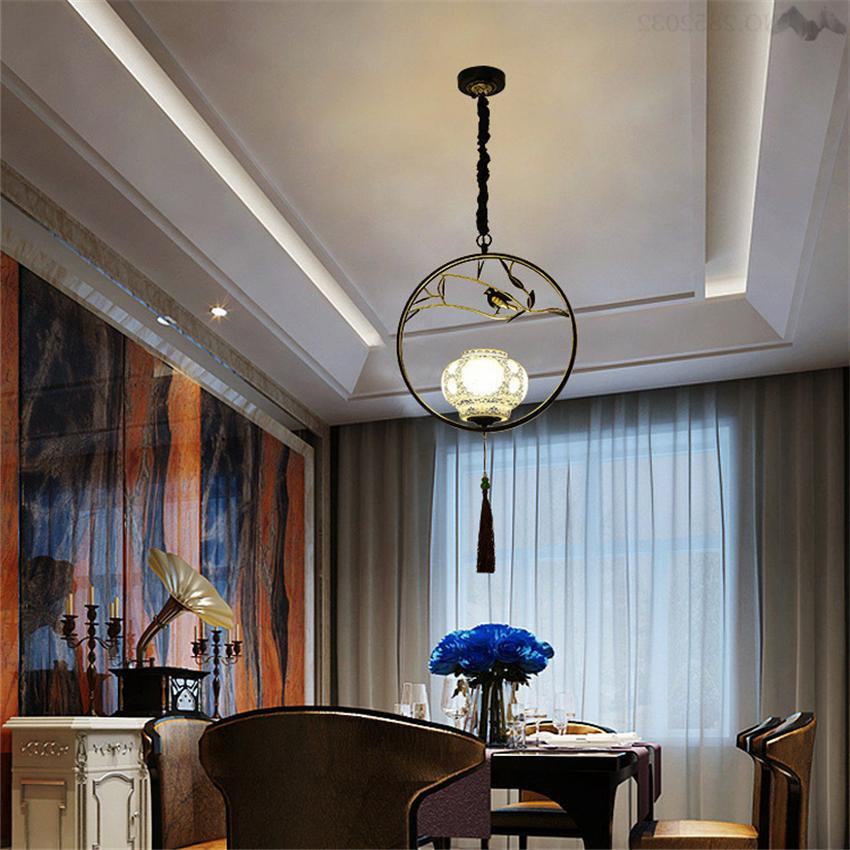 Creative <font><b>Bird</b></font> Chinese style chandelier antique restaurant room