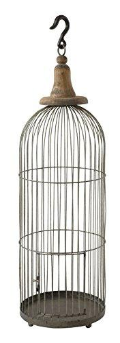 Creative Co-Op DA6713 Metal Wire Birdcage with Wood Hook