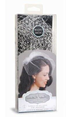 David Tutera Cream Birdcage Wedding Veil with Attached Comb