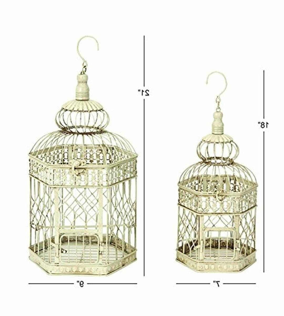 Deco Metal Cage, 21-Inch Set of 2