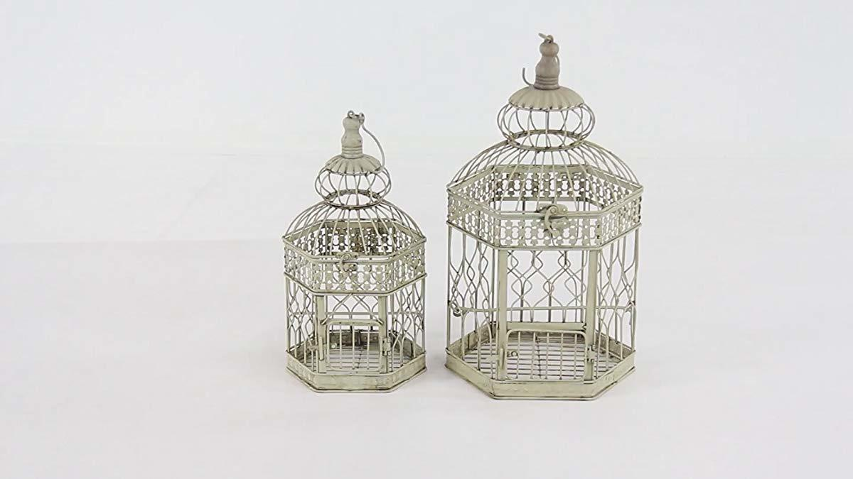 Deco 79 Metal Cage, 21-Inch Set of 2