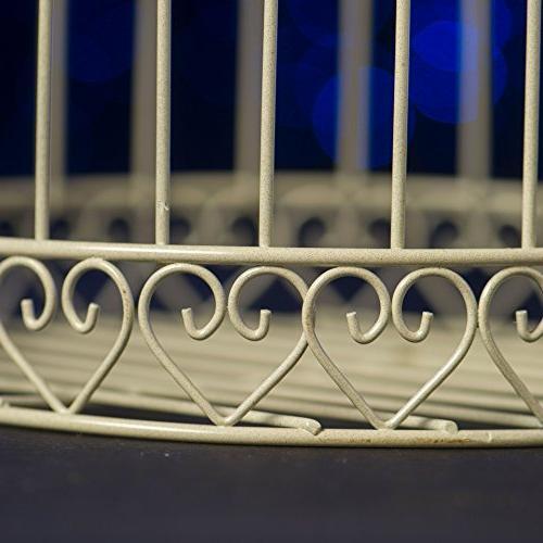 Shindigz Decorative Cage Latern Centerpiece-Ivory