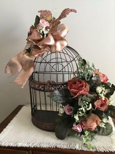 decorative bird cage centerpiece wedding or shower