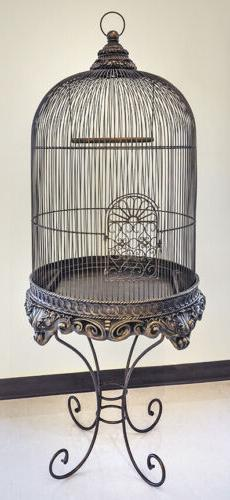 Decorative Bird Cage with Stand Bronze Imperial - Birdcage w