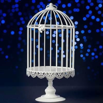 decorative white or black bird cage centerpiece