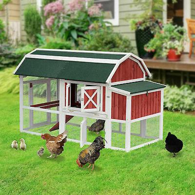 """Pawhut Large 79"""" Chicken Coop Cage Poultry Hen House Run Nes"""