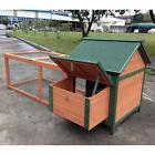 """DELUXE 72"""" Rabbit Hutch Poultry Cage Bunny Chicken Coop Guin"""