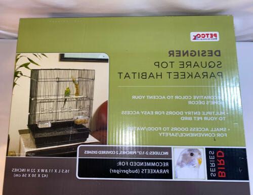 designer square top parakeet habitat new in