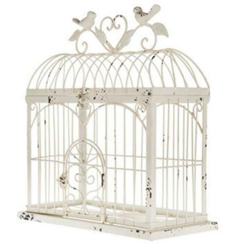 distressed metal birdcage home decor