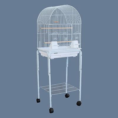 Dome Top Bird Cage with Stand for Canary Cockatiel Parakeets