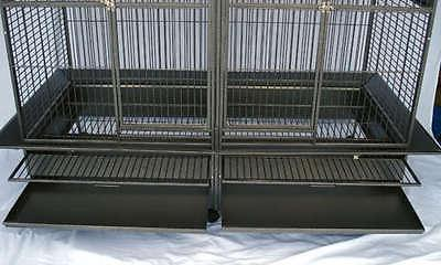 Double Cage center divider for Macaw Aviary W64xD32xH73