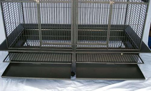Double Cage center divider Parrot Macaw Aviary W64xD32xH73