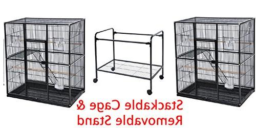 "Mcage Stackable 3 Bird Parrot Cage Conure Cage 30""Length 74""Height on Vein"