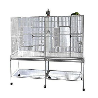 A&E Cage Double Bird Divider- 64 White