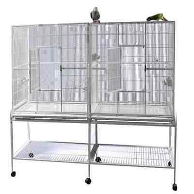 double flight bird cage with divider 64