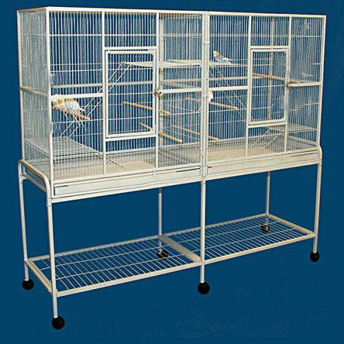 LARGE Double Flight Wrought Iron Cage Cockatiel Ferret Sugar 15D 375
