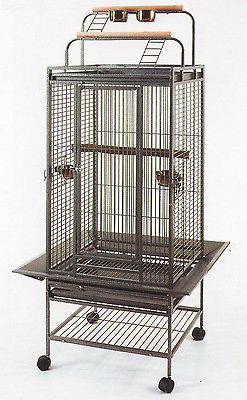 NEW Double Ladders Open Play Top Wrought Iron Parrot Macaw B