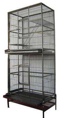 NEW LARGE Double Stackable Bird Cockatiel Sugar Glider Wroug