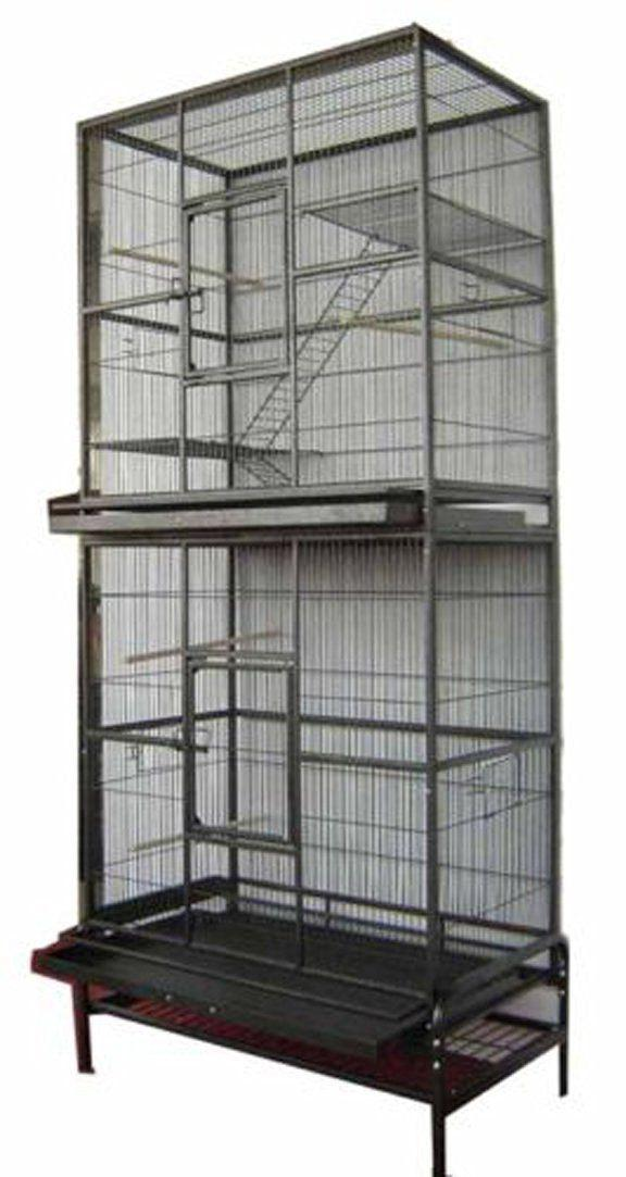 Large Double Stackable Canary Budgie Aviary Cockatiel Sugar