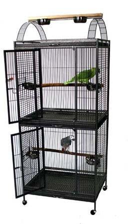 double stackable decker bird cage