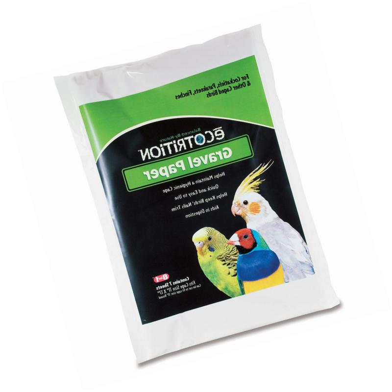 ecotrition gravel paper for birds 8 3