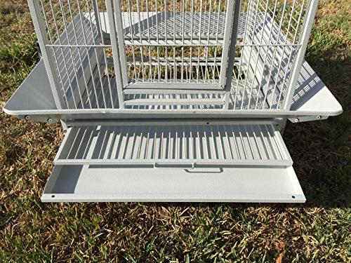 Bird Cage Cockatoo African Grey White Vein