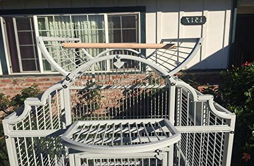 New Elegant Wrought Open/Close Bird Parrot Include Metal Solid Metal Nest Doors 38-2422