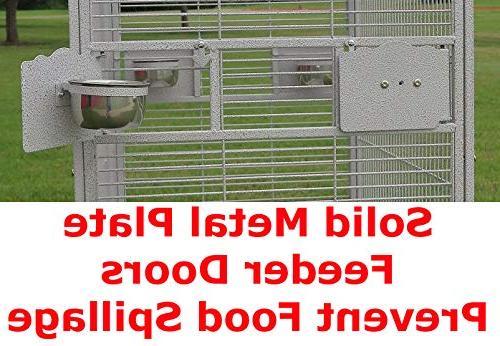 New Elegant Open/Close Bird Cage, Include Metal Metal 38-2422