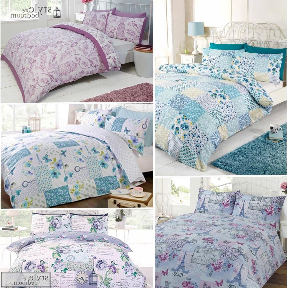 Floral Patchwork Reversible Shabby Chic Duvet Quilt Cover Be