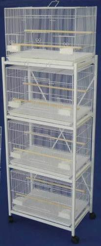 Mcage Lot of Four Aviary Breeding Bird Cages 30x18x18 with S