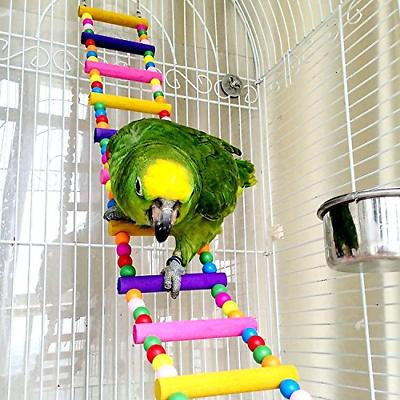 CocoGo Funny Swing Bird Toy Flexible Ladder, Colorful Parrot