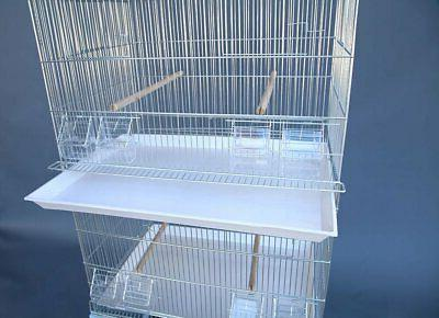 Galvanised on Stand for Parakeet Budgie Cockatiel...