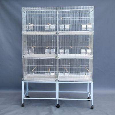 6x Breeding Cages on Stand Canary Parakeet