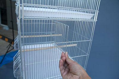 6x Galvanised Cages for Canary Budgie