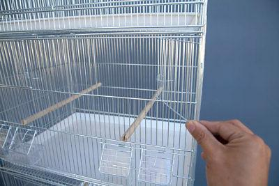 6x Galvanised Bird Cages Canary Budgie