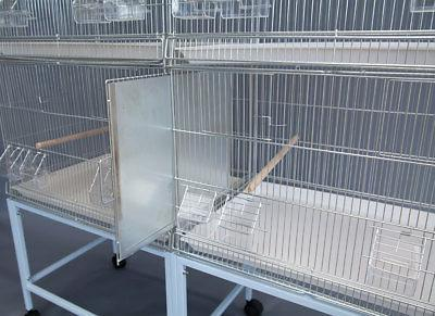 6x Galvanised Breeding Bird Cages on Stand Canary
