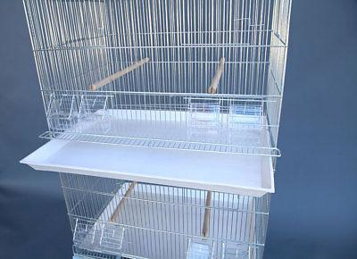 6x Galvanised Breeding Cages on Stand Canary Budgie Cockatiel