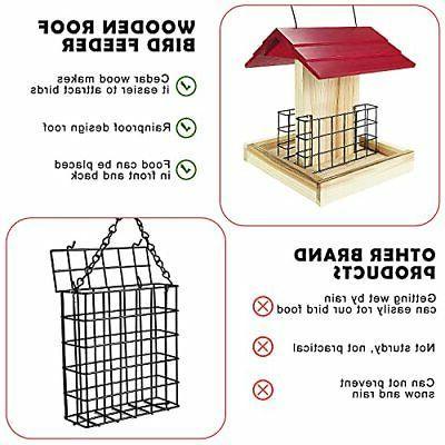 Garden Feeder Wood Feeder Cedar Bird Suet