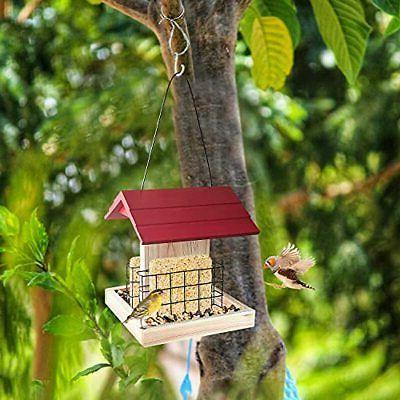 Garden Wood Bird Feeder Bird Feeder With Suet Cages