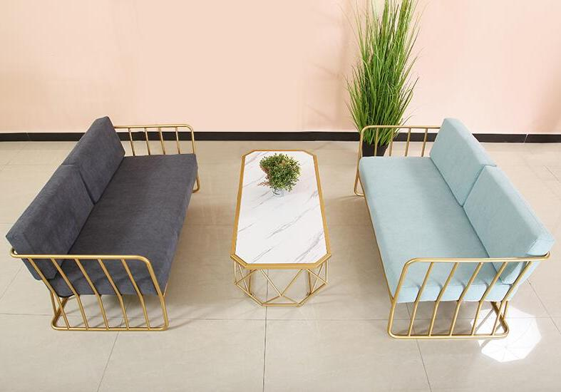 Golden sofa, and creative <font><b>cage</b></font> shelf