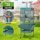 New Green Bird Cage Large Play Top Parrot Finch Cage Macaw C