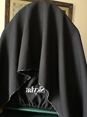 Handcrafted Black Fabric Bird Cage Catcher Guard Cover XS-XXL