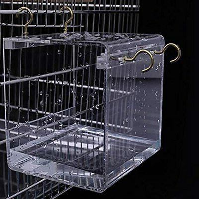 Suremita Hanging Bird Bath Cube Shower Bowl Accessory