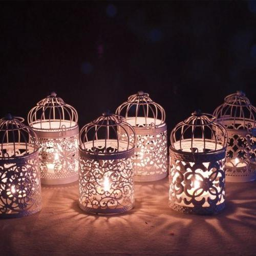 Hanging Cage Holder Lantern Home Party Decor