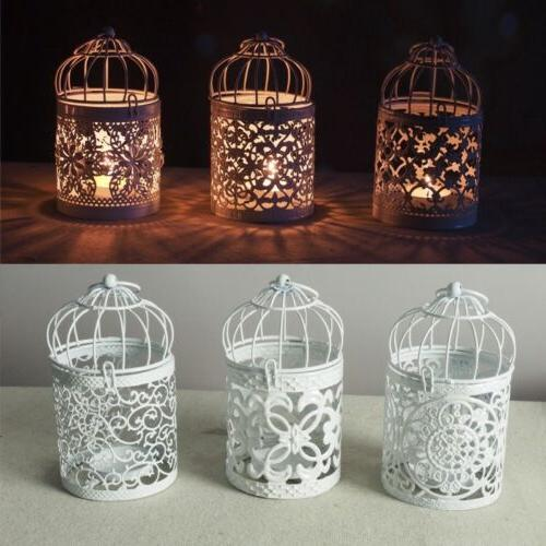 hanging bird cage candles holder retro iron