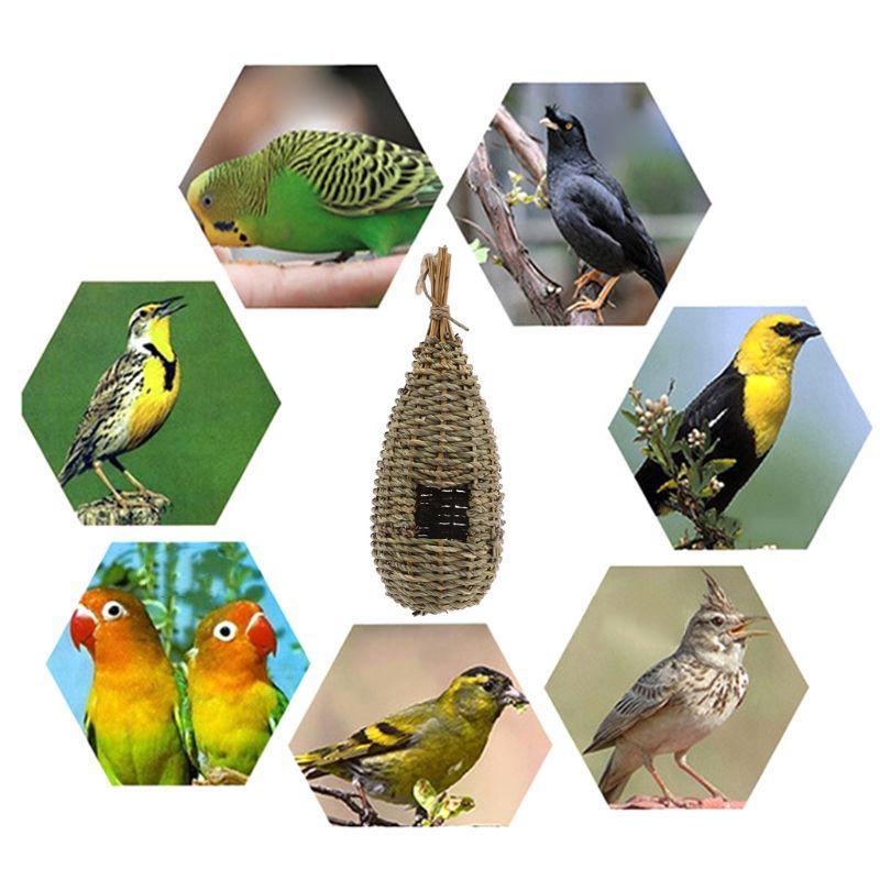 Hanging <font><b>Bird</b></font> House Fiber <font><b>Finch</b></font> <font><b>Bird</b></font> Hut Outdoor Hideaway