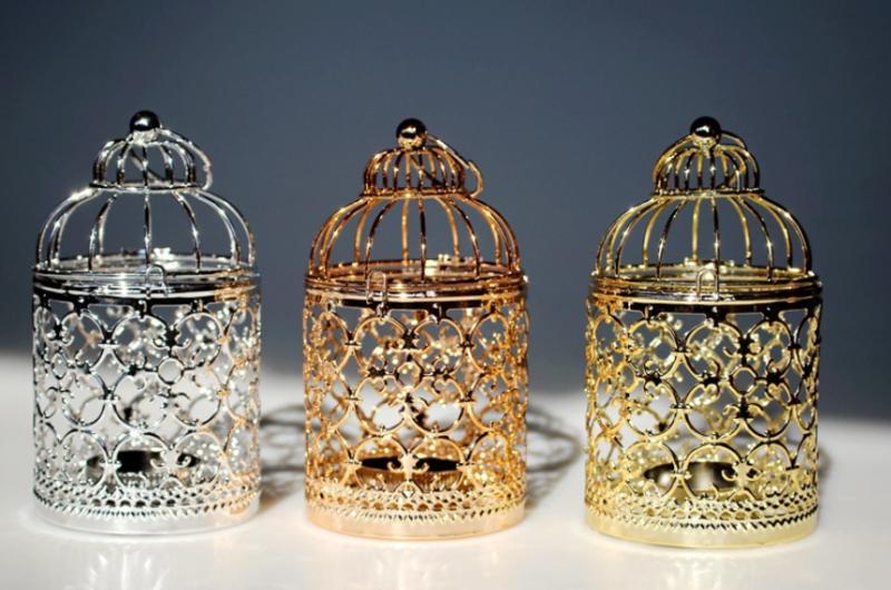 Hollow Bird Candle Holder Tealight Candlestick Lantern Decor
