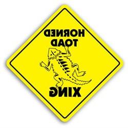 HORNED TOAD ZONE Sign xing gift novelty frog reptile cage fo