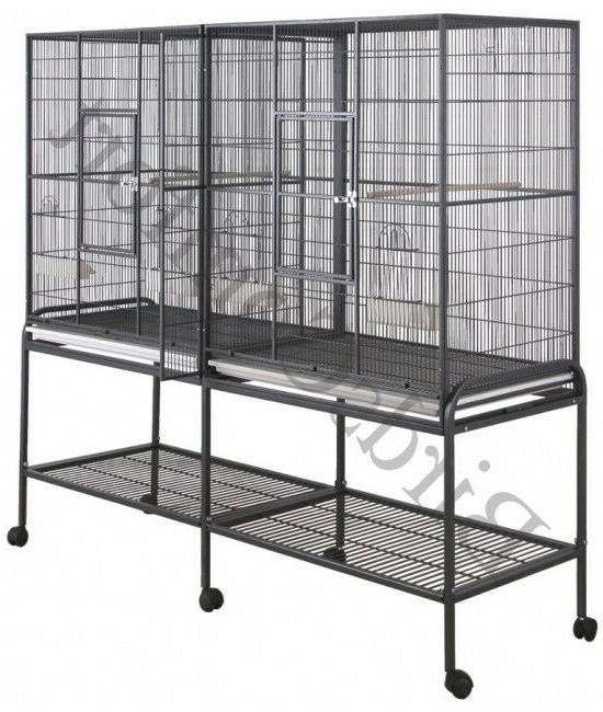 HQ Double Flight Bird Cage For Small Birds 64x21x62
