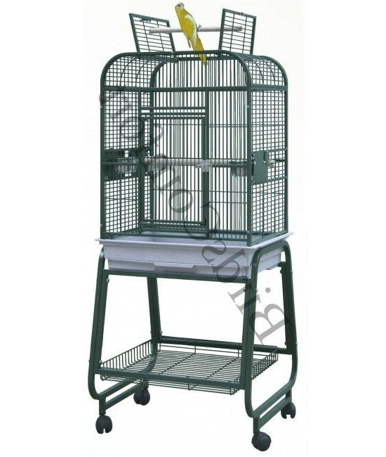 HQ Flat Open Cockatiel Bird Cages With Bottom Storage Bin 22